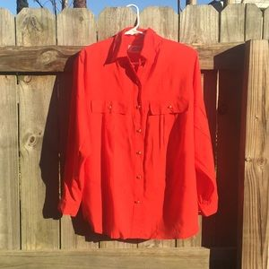 VTG Orang/Red Josephine button-down